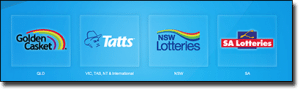 Tattslotto Australia state lotteries