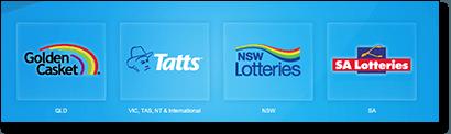 Tattslotto Australia state lotteries