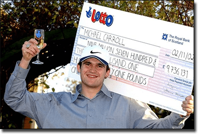 Michael Carroll - past lottery winner