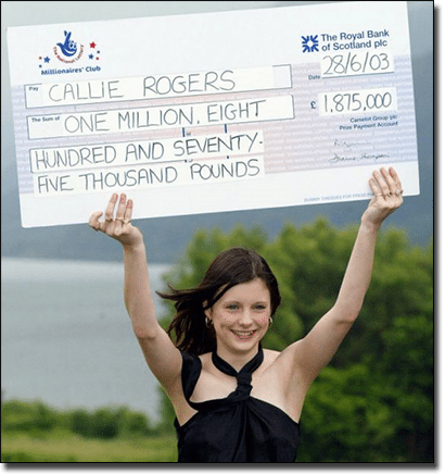 Callie Rogers past lotto winner who went broke