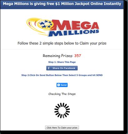 Social media lottery scams