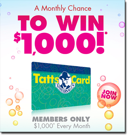 Tattscard loyalty program for Australian lotto players