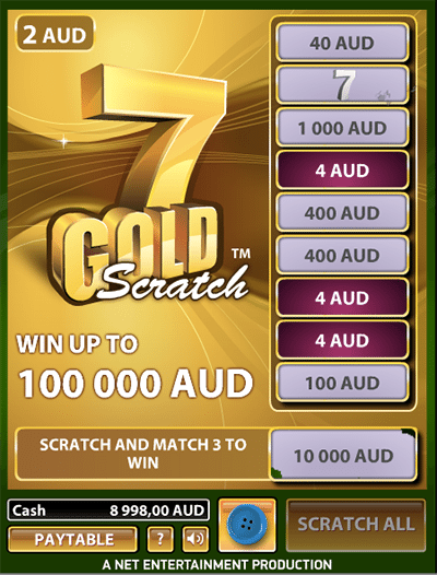 7 Gold Scratchies by NetEnt