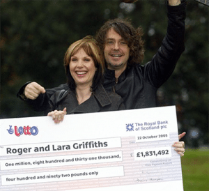 Lara and Roger Griffiths lottery winners