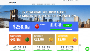 Jackpot.com online lotto site